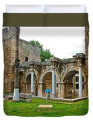 Hadrian's Gate In Antalya-turkey Duvet Cover
