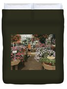 Haefner's Garden Center Impatiens Duvet Cover