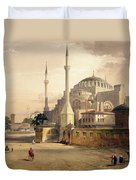 Haghia Sophia, Plate 17 Exterior View Duvet Cover by Gaspard Fossati