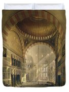 Haghia Sophia, Plate 24 Interior Duvet Cover by Gaspard Fossati
