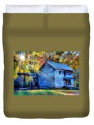 Hagood Mill With Sunrays Duvet Cover