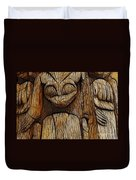 Haida Totem Duvet Cover by Bob Christopher