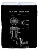 Hair Dryer 2 Patent Art 1911 Duvet Cover