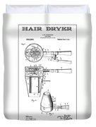 Hair Dryer 3 Patent Art 1911 Duvet Cover