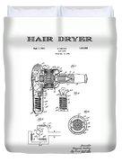 Hair Dryer 3 Patent Art 1931 Duvet Cover