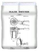 Hair Dryer 4 Patent Art 1911 Duvet Cover