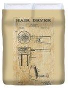 Hair Dryer Patent Art 1911 Duvet Cover