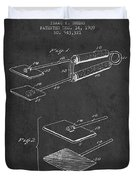 Hair Straightener Patent From 1909 - Charcoal Duvet Cover