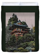 Hakoni Tea House Duvet Cover