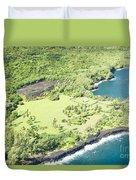 Aerial View Hale O Pi'ilani Heiau Honomaele Hana Maui Hawaii  Duvet Cover