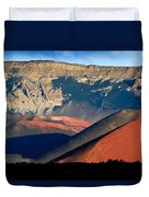 Haleakala Cinder Cones Lit From The Sunrise Within The Crater Duvet Cover