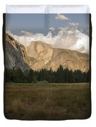 Half Dome And The Yosemite Valley Duvet Cover