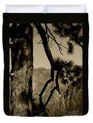 Sierra Nevada Sepia Duvet Cover