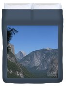 Half Dome In Distance Duvet Cover