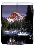 Half Dome Reflection Yosemite National Park California Duvet Cover