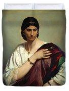 Half-length Portrait Of A Roman Woman Duvet Cover