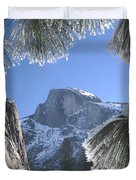 2m6757-halfdome In Winter Duvet Cover