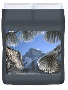 2m6757-halfdome In Winter Duvet Cover