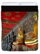 Hall Of Buddhas At Wat Suthat In Bangkok-thailand Duvet Cover