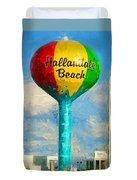 Hallandale Beach Water Tower Duvet Cover