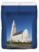 Hallgrimskirkja Church In Reykjavik Iceland Duvet Cover