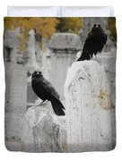 Halloween Is In The Autumn Air Duvet Cover