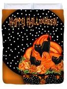 Halloween Black Cat Cupcake 2 Duvet Cover