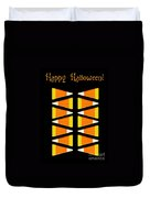 Halloween Candy Corn Duvet Cover