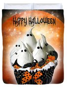 Halloween Ghost Cupcake 1 Duvet Cover