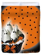 Halloween Ghost Cupcake 2 Duvet Cover