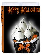 Halloween Ghost Cupcake 3 Duvet Cover
