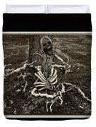 Halloween Green Skeleton Black And White Duvet Cover