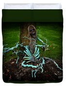 Halloween Green Skeleton Vinette Duvet Cover