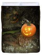 Halloween Jack O Lanterns Duvet Cover
