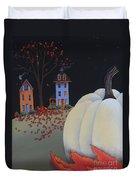 Halloween On Pumpkin Hill Duvet Cover