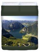 Hallstatt Lake Austria Duvet Cover