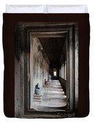 Hallway At Angkor Wat Duvet Cover