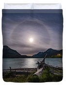 Halo Around The Solstice Moon Duvet Cover