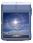 Halo Over  The Sea Duvet Cover