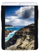 Halona Blowhole Lookout- Oahu Hawaii V2 Duvet Cover