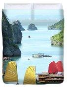 Halong Bay Sails 01 Duvet Cover