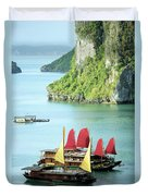 Halong Bay Sails 02 Duvet Cover