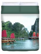 Halong Bay Sails 04 Duvet Cover