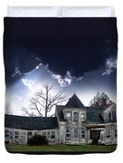 Haloween House Duvet Cover by Skip Willits