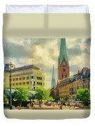 Hamburg Street Scene Duvet Cover