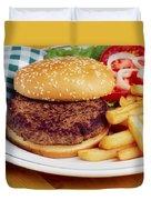 Hamburger & French Fries Duvet Cover