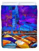 Hamilton Ohio City Art 14 Duvet Cover