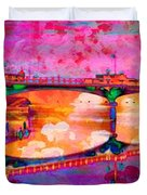 Hamilton Ohio City Art 5 Duvet Cover