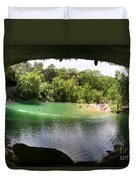 Hamilton Pool Cave Duvet Cover