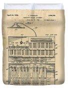 Hammond Organ Patent Duvet Cover